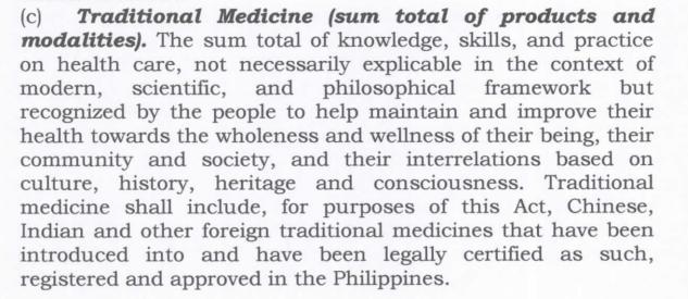 HB 7950 traditional medicine definition
