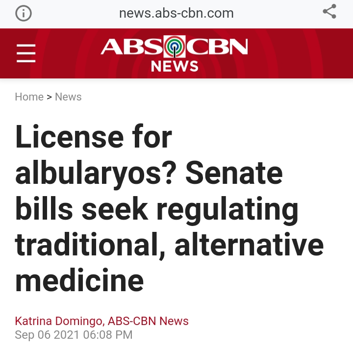 License for Albularyo, Hilot and Faith Healers in thePhilippines?